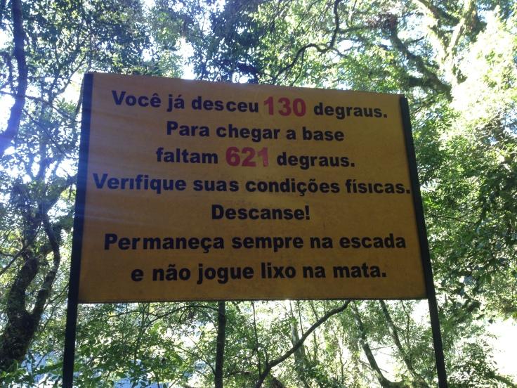 Haja perna! Escada da Perna Bamba - Parque Nacioanal do Caracol. Canela - RS